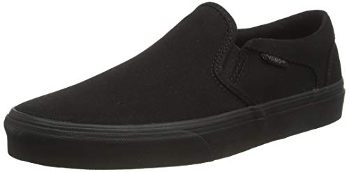 Vans Herren Asher Low-Top, Schwarz ((Canvas) Black/Black), 44 EU