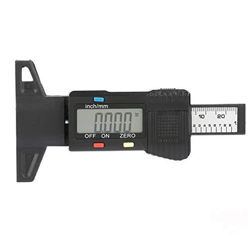 Medidor de profundidad de la banda de rodadura, medidor de profundidad de llanta ligero funcional de fibra de carbono con alta resolución para medir joyas para la construcción industrial