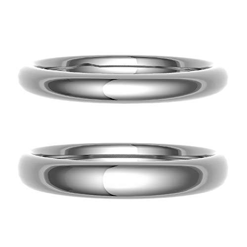[ココカル]cococaru ペアリング 結婚指輪 シルバー 2本セット マリッジリング 日本製 (レディースサイズ18号 メンズサイズ14号)