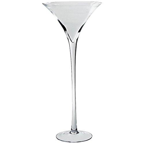 XXL Martini Glas Sektschale Dekoration groß Höhe 70 Ø 30 cm Bodenvase Fuss