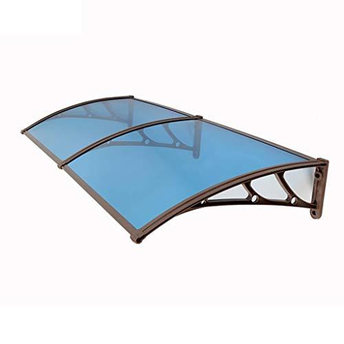 Lw Canopies deurluifel, transparant, luifel voor deuren, luifel terras op het dak, 6 maten 80×200cm Een