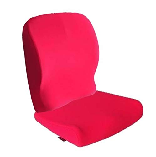 Ozer Patented Temperature-Adapting and Viscoelastic Ergonomic Memory Foam Seat and Back Cushion Set Best for Hip Pain,Lower Back Pain,Sciatica Pain and Tailbone Pain-Office Chair Car Seat (Pink)