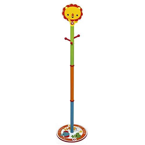 Room Studio fp10003Fisher Price Attaccapanni per Bambini, in Legno, Dimensioni: 145x 35,5x 35,5cm, Colore: Giallo/Verde