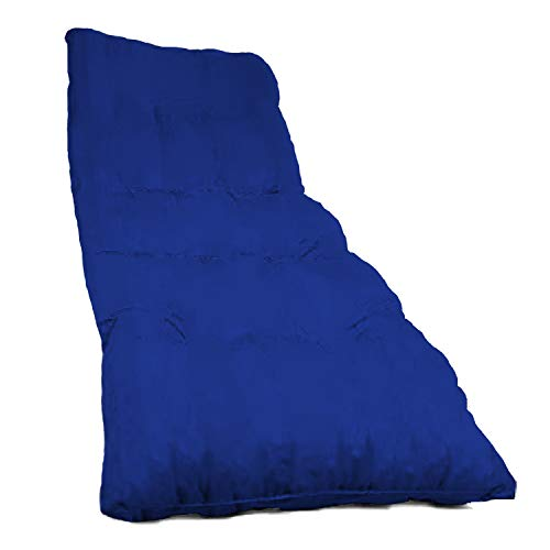 Dabuty Online, S.L. Pack de 2 Colchones Tumbona Acolchada de Rayas 180 x 55 X 8 cm Texturas Rojo, Verde, Amarillo, Azul (Liso Azul Claro)