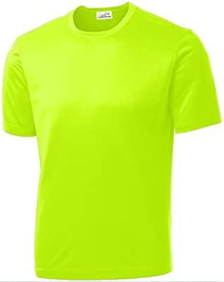 Joe's USA - All Sport Neon Color High Visibility Athletic T-Shirts in Sizes XS-4XL by