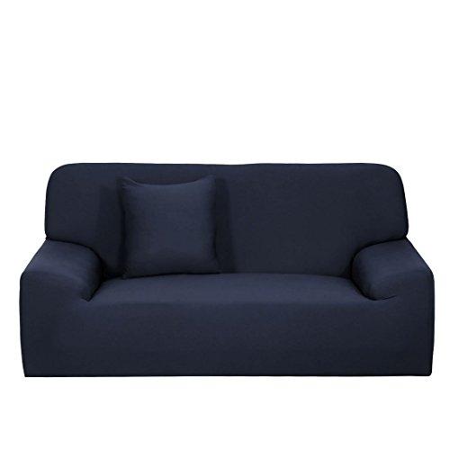 YeVhear - Funda de sofá extensible para sofá o sofá (funda de cojín), color azul oscuro y grande