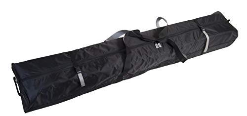 Select Sportbags 190 Fully Padded Double SKI Bag W/Wheels- Black