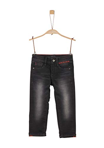 s.Oliver Jungen Brad: Warme Superstretch-Jeans black stretched de 98.REG