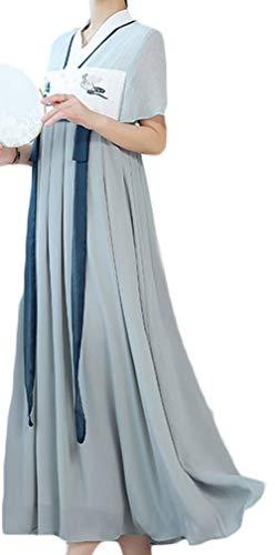 Wamvp Frauen Hanfu Halloween Cosplay Kleid Gesticktes Chinesisches Kostüm