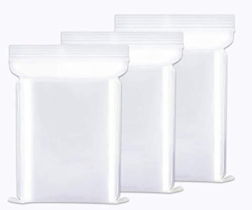 """Tappery Wiederverschließbare Durchsichtige Plastiktüten,100 Stück Zip Beutel,6""""x 8""""(15x20cm) Druckverschlussbeutel Klein,Wiederverschließbare Beutel zur Aufbewahrung"""