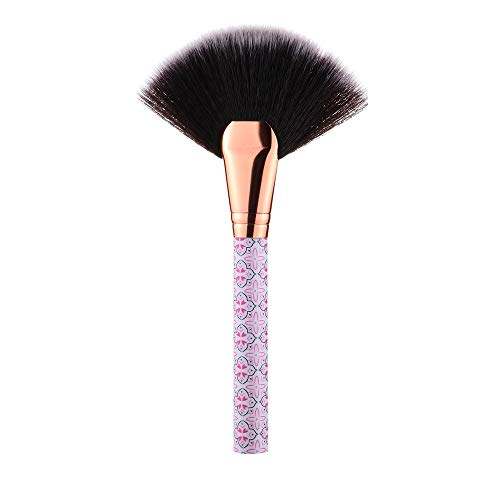 Profesional Maquillaje Cepillos Colorete Polvo Sombra De Ojos Delineador De Ojos Conjunto Bohemia Fan Cara Solo Cepillo Rosa Rojo1