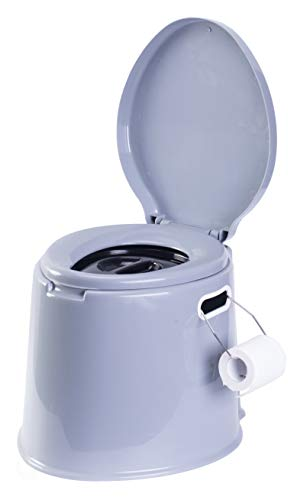 "PLAYBERG Portable Indoor & Outdoor Travel Toilet for Camping and Hiking Indore 8 Gallon Waste Tank, Grey, 17"" W x 16"" D x 14"" H (QI003241NEW)"