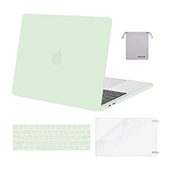 MOSISO Compatible with MacBook Pro 13 inch Case 2016-2020 Release A2338 M1 A2289 A2251 A2159 A1989 A1706 A1708 Plastic Hard Shell Case&Keyboard Cover Skin&Screen Protector&Storage Bag Honeydew Green