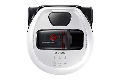 Samsung VR7000 VR1GM7010UW/EG POWERbot Saugroboter (80W extra starke Saugkraft ideal für Teppiche und Tierhaare, Digital Inverter Motor, Saubere Ecken, Intelligente Navigation, Startzeit-Vorwahl) weiß