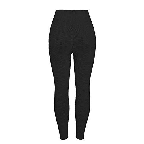 QFYD FDEYL Camiseta sin Mangas de Punto Jersey Suave de Mujer,Pantalones de Yoga Sexy para Mujer, Medias Deportivas de Cintura Alta-Black_L_Estados Unidos,Pantalón Deportivo de Mujer Cintura