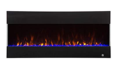 Touchstone 80040 - Fury Mantel Style Electric Fireplace - 50 Inch Wide - 9 Colors - Heat & Thermostat - 3 Sided Design