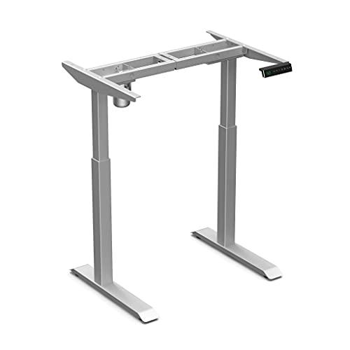 StudyDesk - Escritorio pequeño de pie (estructura plateada/sin tablero de mesa)