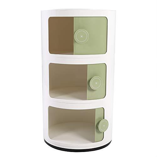 Cococarm schuifladenkast gereedschapskast, opbergsysteem, opbergdoos met 3 schuifladen van kunststof, 32 x 32 x 58 cm