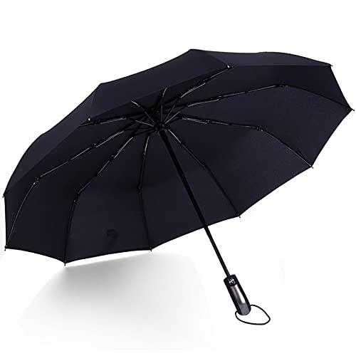 LDGGS Paraguas automático compacto a prueba de viento a prueba de sol plegable a prueba de lluvia paraguas de viaje de un botón paraguas automático