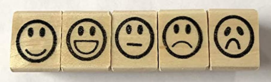 Smiley Face Rubber Stamp Set
