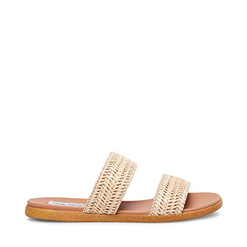 Steve Madden Women's Dual Natural Raffia Sandal 8 US