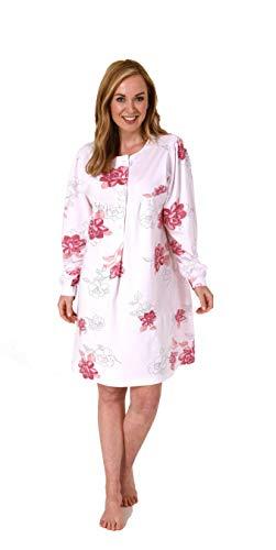 Normann Care Damen Pflegenachthemd Langarm, Rückenteil offen - 202 274 90 600, Farbe:Rose, Größe:40-42