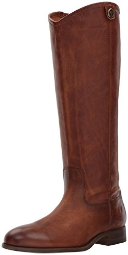 Frye Women's Melissa Button 2 Riding Boot, Cognac, 8