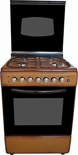 cocina Moto de Marrón 60X 604fuegos con Horno eléctrico Metano O, Grill Eléctrico y tapa de cristal