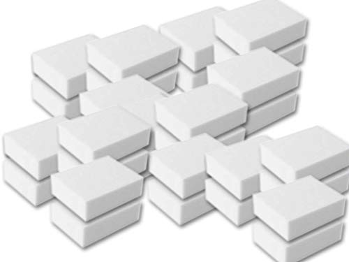 100 Stk Reinigungsschwamm, Radierschwamm, Schmutzradierer, Wunderschwamm je 10x7x3 cm WEISS