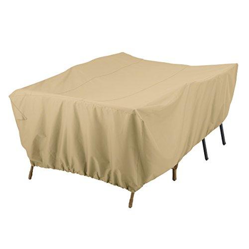 Classic Accessories Terrazzo Water-Resistant 80 Inch Conversation Set/General Purpose Patio Furniture Cover