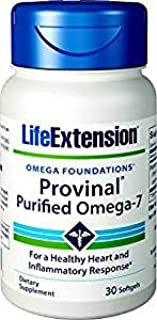 Life Extension Provinal Purified Omega-7, 30 Softgel 210 mg (Pack of 3)