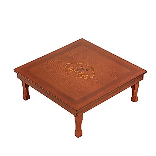 SH-tables Mesa Plegable, Mesa De Comedor Cuadrada De Madera Maciza Coreana/Mesa De Estudio/Mesa/Mesa De Kang, para Tatami/Ventana De La Bahía/Casa De Té (Color : B, Size : 70cm)