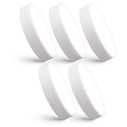 linovum paniled 5 Stück LED Deckenstrahler flach 26mm Ø 90mm - neutralweißes Licht 6 Watt 230 V - 5x rundes LED Aufbau Licht