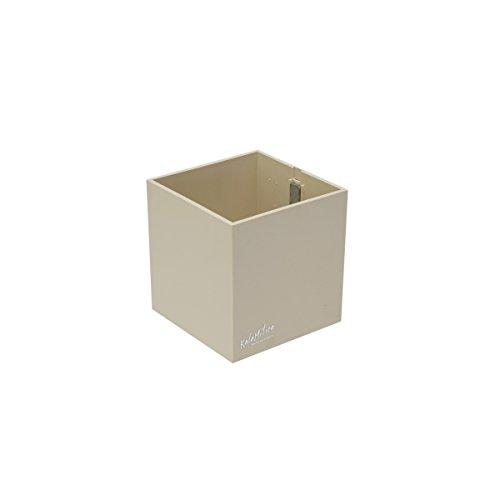 KalaMitica 60019-901-001 Récipient Magnétique Cube, Résine Abs, Couleur Ivoire, Dimension 9,5 cm