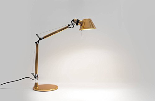 Artemide Tolomeo AS01180023 Micro Gold LED Lampe de Table E14 6 W 470 LM