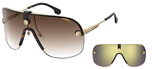 Carrera Gafas de sol CA EPICA II 17X / 86 Gafas de sol unisex color Oro marrón tamaño de la lente 99 mm