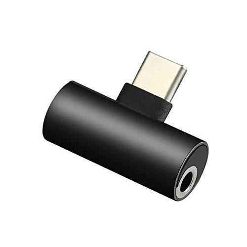 Adattatore jack per cuffie da USB-C a 3,5 mm compatibile con MotoZ, Huawei Mate 10 Pro Xiaomi 6 Nubia Z17 / Black Dragon Trading