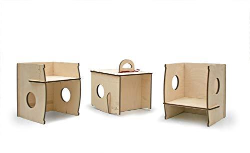 Dindola la sedia che dondola! sedia per bambini Montessori in legno a doppia altezza.