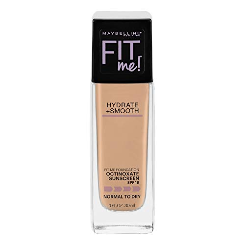 Maybelline Fit Me Dewy + Smooth Foundation, Natural Beige, 1 Fl. Oz (Pack of 1) (Packaging May Vary)