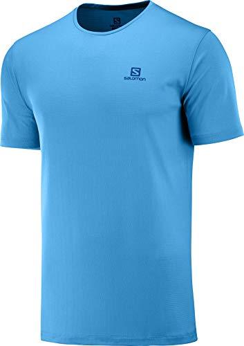 SALOMON Hombre Camiseta Deportiva de Manga Corta, Agile Training tee M, Poliamida/Poliéster