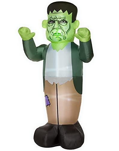 Spirit Halloween 8 Ft LED Frankenstein Inflatable Decoration