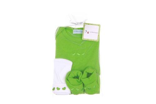 Les bébés d Elyséa Baby-Geschenkset  Grün  3-teilig
