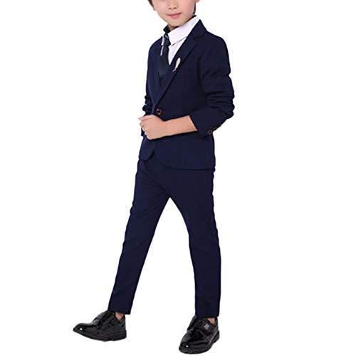 Traje para Niño Boda Ceremonia Conjunto Chaqueta Pantalones Ropa De 2 Piezas Armada 110CM