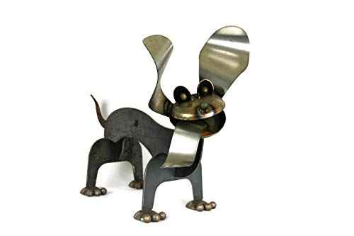 Metal Wiener Dog Statue 24 Inches Long