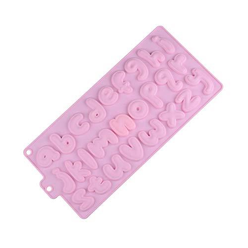 nobrand Neue Form Lebensmittelqualität 26 Kleinbuchstaben Kuchendekorationsform Schokoladenkeks Eiswürfel Silikonform, wiederverwendbar, 1 STK. , Pink