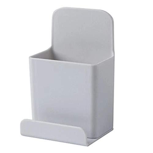 Caja de almacenamiento montada en la pared pequeña de control remoto organizador de almacenamiento caso para aire acondicionado TV teléfono móvil titular soporte rack