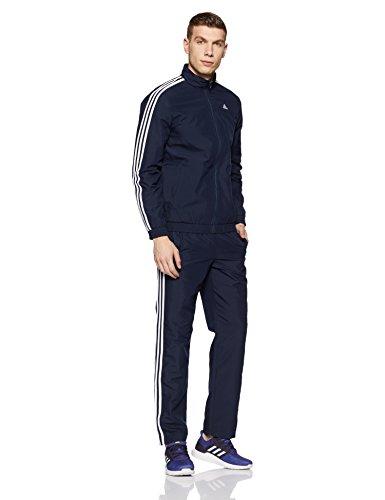 Adidas Men's Tracksuit (CF1838_Navy-White_Large)