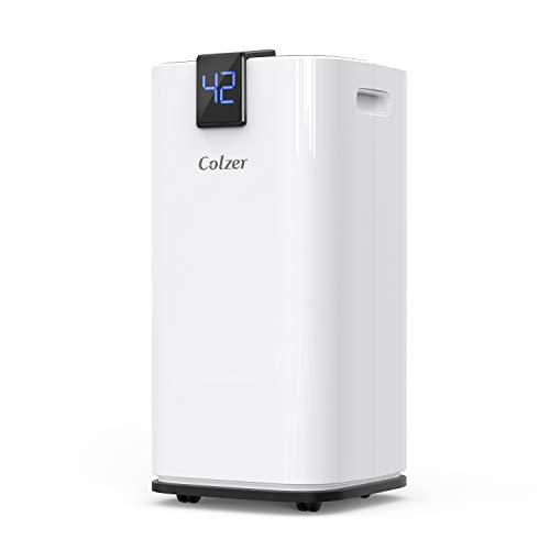 COLZER 70 Pints 4,500 SQ FT Home Dehumidifiers for Basements & Large Rooms, Large Removal Capacity with 7.4-Pint Water Bucket & Continuous Drain Hose for Self-draining
