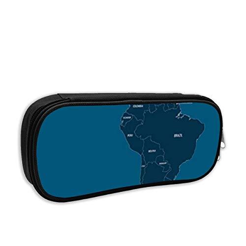 Mittel- und Südamerika-Karte Federmäppchen für Mädchen - Schulmäppchen für Schreibwaren - Schulsachen Federtasche, Jungen Federmappe, Mäppchen für Schule