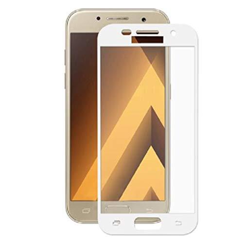 Movilrey Protector para Samsung Galaxy A5 2017 Blanco Completo 3D Cristal Templado...